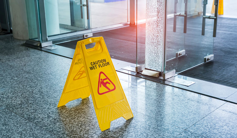 general liability slippery floor